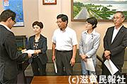 滋賀県に要請する日本共産党滋賀県議団写真